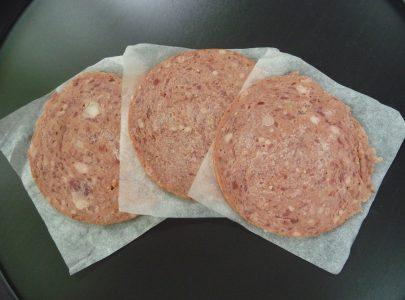 BAKING PAPER SEPARATORS OF SALAMI MEAT