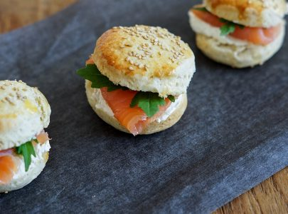Scones with Salmon