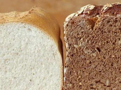 THE DIFFERENCE OF WHITE FRESH BREAD AND WHEAT BARGAIN BREAD