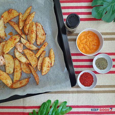 Roast Potato Wegdes
